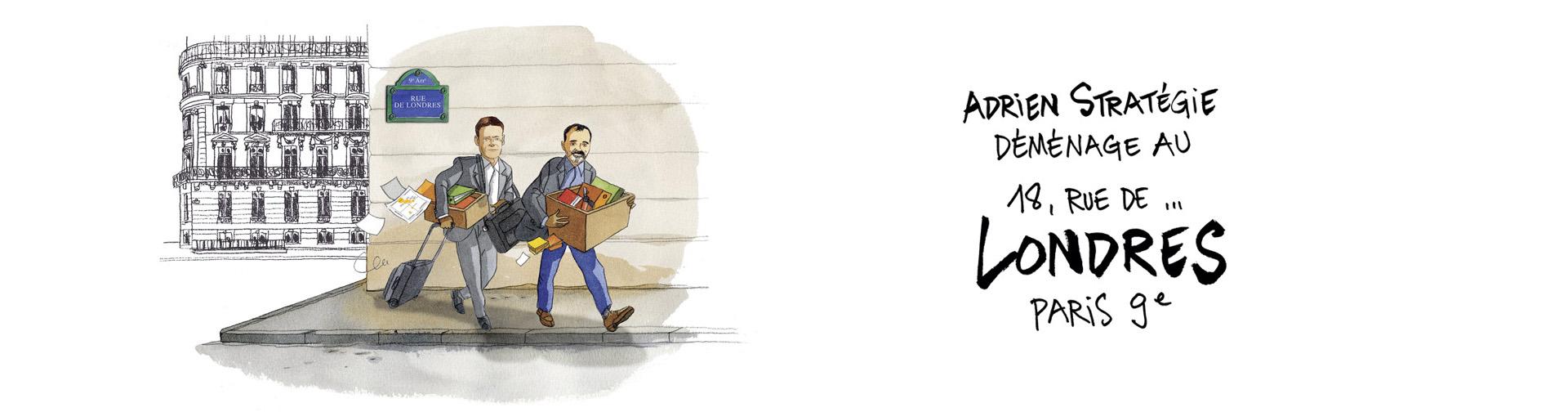 Adrien Stratégie déménage